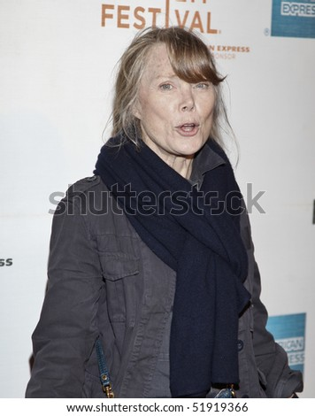 NEW YORK - APRIL 27: Actress Sissy Spacek attends the 'Get Low' premiere during the 9th Annual Tribeca Film Festival at the Tribeca Performing Arts Center on April 27, 2010 in New York City. - stock photo