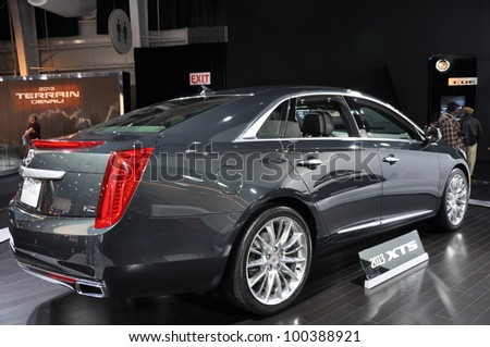 NEW YORK - APRIL 11: Cadillac XTS at the 2012 New York International Auto Show running from April 6-15, 2012 in New York, NY.