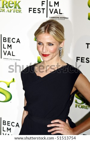 "NEW YORK - APRIL 21: Cameron Diaz attends the ""Shrek Forever After"" premiere during the 2010 Tribeca Film Festival at the Ziegfeld Theatre on April 21, 2010 in NYC."