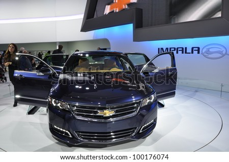 NEW YORK - APRIL 11: Chevy Impala at the 2012 New York International Auto Show running from April 6-15, 2012 in New York, NY.