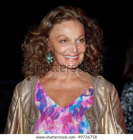 NEW YORK - APRIL 21: Designer Diane von Furstenberg attends the Vanity Fair party for the 2009 Tribeca Film Festival at the State Supreme Courthouse on April 21, 2009 in NYC