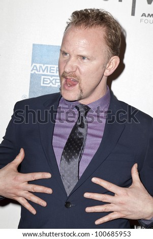 NEW YORK - APRIL 21: DIrector Morgan Spurlock attends 'Mansome' Premiere during the 2012 Tribeca Film Festival at the Borough of Manhattan Community College on April 21, 2012 in New York City