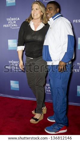 "NEW YORK - APRIL 24: Marina Zenovich and Tracy Morgan attend World Premiere of ""The Battle of amfAR"" during the 2013 Tribeca Film Festival on April 24, 2013 in New York"