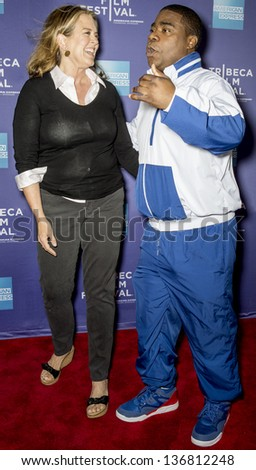 """NEW YORK - APRIL 24: Marina Zenovich and Tracy Morgan attend World Premiere of """"The Battle of amfAR"""" during the 2013 Tribeca Film Festival on April 24, 2013 in New York"""