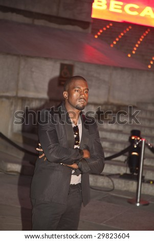 NEW YORK - APRIL 21: Rapper Kanye West attends the Vanity Fair party during the 8th annual Tribeca Film Festival at the State Supreme Courthouse on April 21, 2009 in New York City.