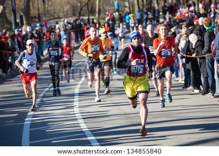 NEW YORK - APRIL 6:  Scenes from 2013 Tartan Weeks Scotland 10k Run in Central Park April 6, 2013 in New York City. #134855840