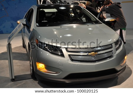 NEW YORK - APRIL 11: The Chevy Volt at the 2012 New York International Auto Show running from April 6-15, 2012 in New York, NY.