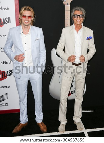 NEW YORK-AUG 3: Actor/dancer Tommy Tune (R) attends the \'Ricki And The Flash\' New York premiere at AMC Lincoln Square Theater on August 3, 2015 in New York City.