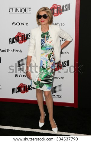 NEW YORK-AUG 3: Actress Christine Baranski attends the \'Ricki And The Flash\' New York premiere at AMC Lincoln Square Theater on August 3, 2015 in New York City.