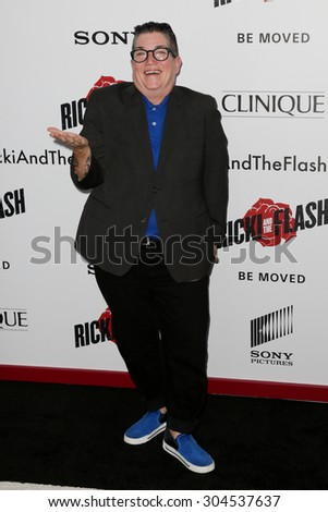 NEW YORK-AUG 3: Actress Lea DeLaria attends the \'Ricki And The Flash\' New York premiere at AMC Lincoln Square Theater on August 3, 2015 in New York City.