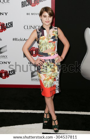 NEW YORK-AUG 3: Actress Sami Gayle attends the \'Ricki And The Flash\' New York premiere at AMC Lincoln Square Theater on August 3, 2015 in New York City.