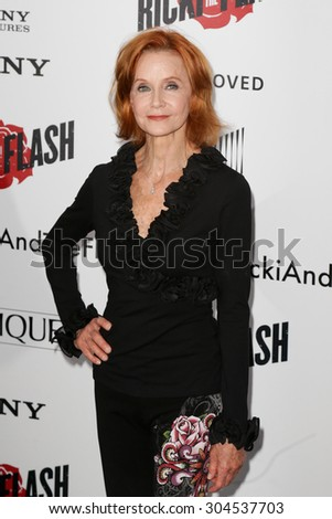 NEW YORK-AUG 3: Actress Swoosie Kurtz attends the \'Ricki And The Flash\' New York premiere at AMC Lincoln Square Theater on August 3, 2015 in New York City.