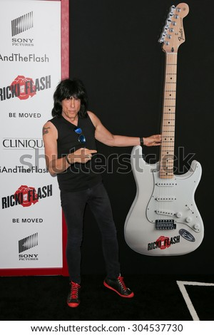NEW YORK-AUG 3: Musician Marky Ramone attends the \'Ricki And The Flash\' New York premiere at AMC Lincoln Square Theater on August 3, 2015 in New York City.