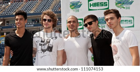 NEW YORK - AUGUST 25: Band The Wanted attends Kids Day at US Open tennis tournament sponsored by Hess on August 25, 2012 in Queens New York