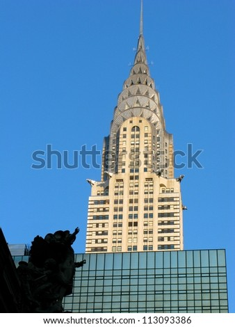 NEW YORK - AUGUST 20: The Chrysler building, pictured on August 20 2012 in New York,was the world's tallest building before the Empire State and is still the tallest brick building in the world