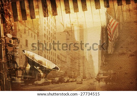 new york background with broadway Stock photo ©