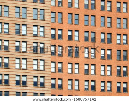 New York building windows, backgrounds and texture