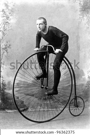 "New York, c1891: World Champion cyclist William Walker Martin, Known as ""Plugger"". 1891 won six-day race at Madison Square Garden NY, billed as long-distance championship of world."
