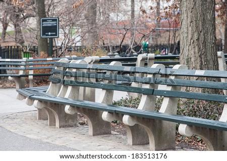 New York Central Park Parkbench Ez Canvas