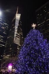 new york, Christmas tree