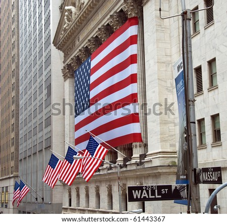 NEW YORK - CIRCA JULY 2009: The New York Stock Exchange circa July 2009 in New York City. It is the world's largest stock exchange bymarket capitalizationof its listed companies.