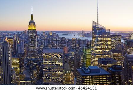 New York city at Dusk #46424131