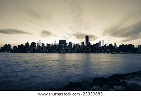 new york city pictures black and white. stock photo : New York City at
