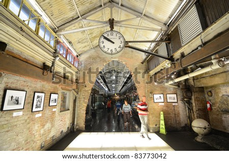 NEW YORK CITY - AUGUST 25: Chelsea Market is an enclosed urban food court, shopping mall, office building and television production facility on August 25, 2011 in New York, NY.