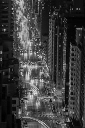 New York City Avenue at night
