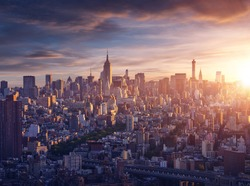 New York city before sunrise
