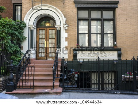 New York City brownstone on upper East side