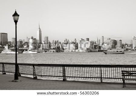 New York City downtown from Hoboken waterfront