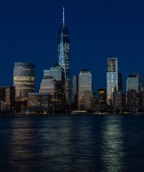 New York City Financial District, Manhattan blue hour