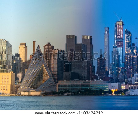 New York City Golden Hour to Blue Hour Timeslice Photo #1103624219