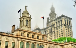 New York City Hall and the Manhattan Municipal Building