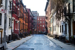 New York City - Historic buildings on Gay Street in Manhattan