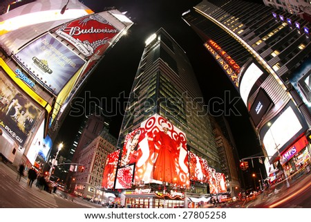 newyork at night. Photo of Times Square at night
