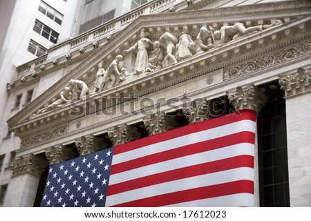 NEW YORK CITY, 2008-JUNE-28: Another good day for stock prices in the stock market in Wall Street.