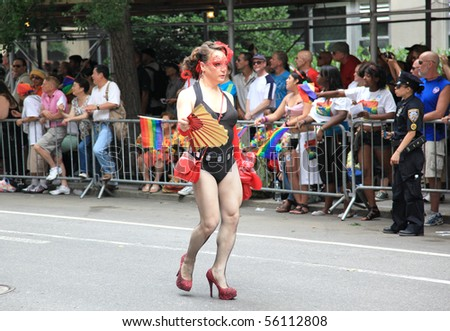 stock photo new york city june nyc lgbt gay pride march on june in new york city usa 56112808 The Gay Pride Parade marches down Fifth Avenue on June 27, 2010   beginning ...
