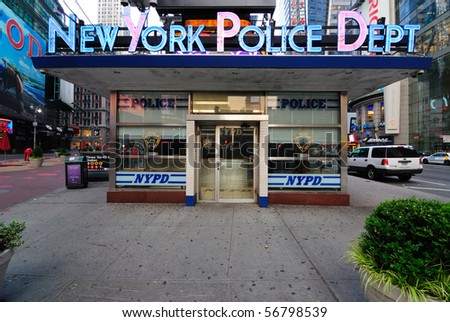 NEW YORK CITY - JUNE 21: One of the most well known New York Police Department buildings in Times Square June 21, 2010 in New York, New York.
