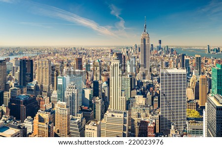 New York City Manhattan aerial view #220023976