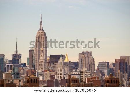 New York City Manhattan Skyline and Skyscrapers, U.S.A.