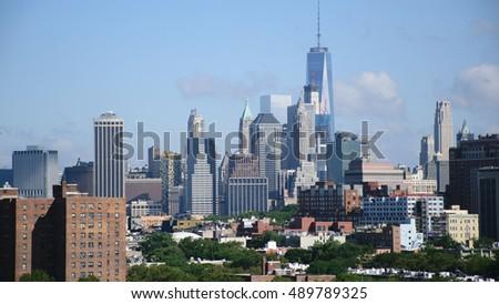New York City Manhattan Skyline and Skyscrapers, U.S.A. #489789325