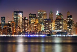 New York City Manhattan skyline over Hudson River