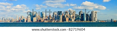 New York City Manhattan Skyline Panorama #82719604
