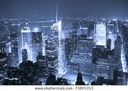 new york skyline black and white. stock photo : New York City