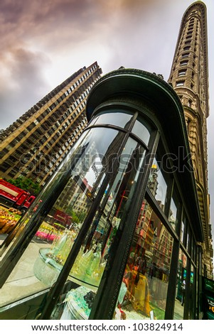 NEW YORK CITY - MAY 15: The Flatiron Building located on Fifth Avenue in Manhattan on May 15, 2012.