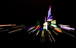 New York City night skyline lights abstract background