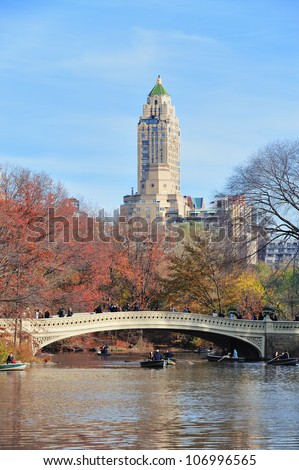 NEW YORK CITY - NOV 19: People have fun in Central Park on November 19, 2011 in New York City. It is a National Historic Landmark since 1963 and the most visited urban park in the United States.