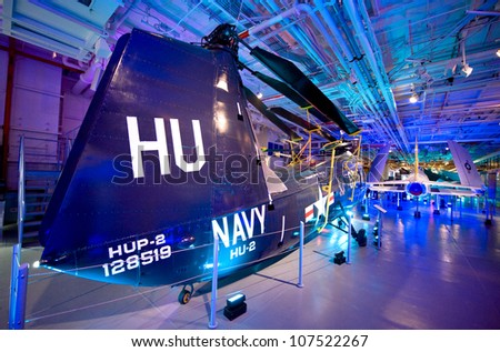 NEW YORK CITY, NY - JULY 9: Aircraft on display in the Intrepid Sea, Air and Space Museum on July 9, 2011 in Manhattan, New York City. - stock photo